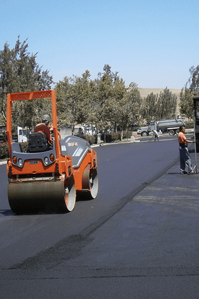 Commercial paving project